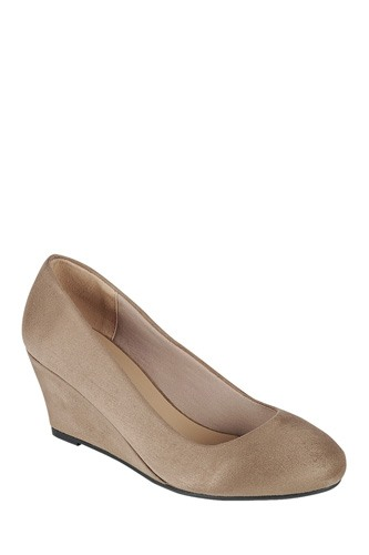 Ladies fashion wedge shoe, closed round toe wedge, slip on closure-id.CC34176a