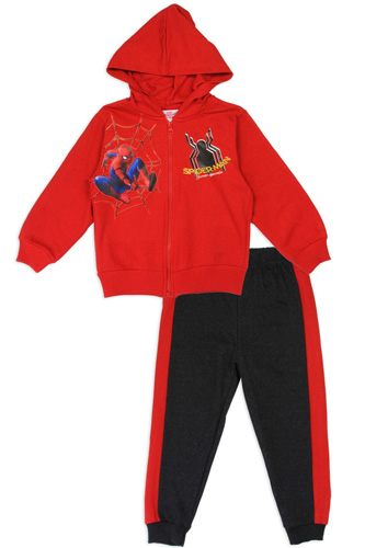 Boys spider-man 2-4T 2-piece zip-up fleece set-id.CC34185