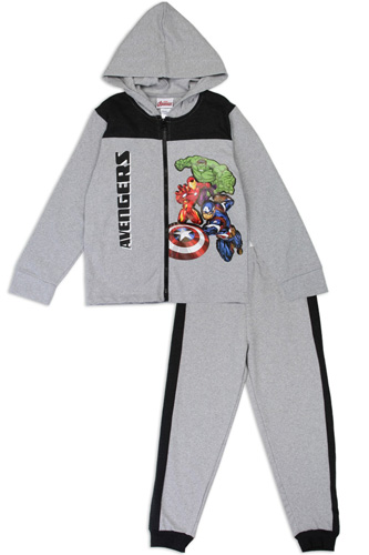 Boys avengers 4-7 2-piece zip-up fleece set-id.CC34188