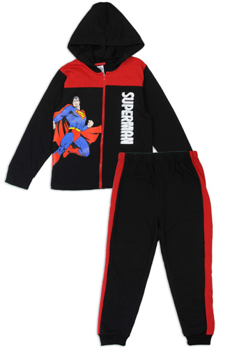 Boys superman 4-7 2-piece zip-up fleece set-id.CC34189