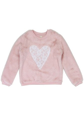 Girls love @ first sight 2-4t cozy pullover -id.CC34224