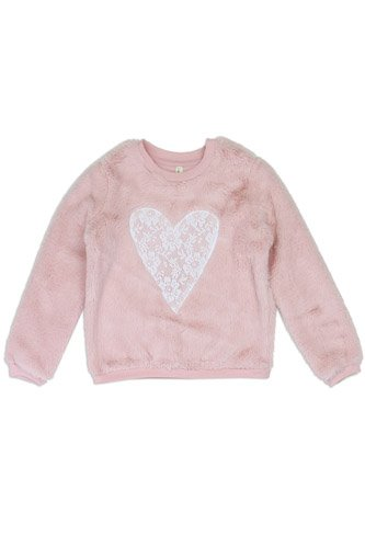Girls love @ first sight 4-6x cozy pullover -id.CC34225