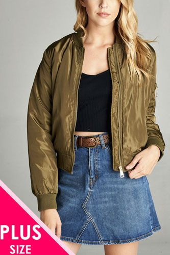 Ladies fashion plus classic padding bomber jacket-id.CC34263