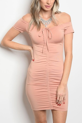 Ladies fashion short sleeve fitted bodycon dress that features a sweetheart neckline-id.CC34334