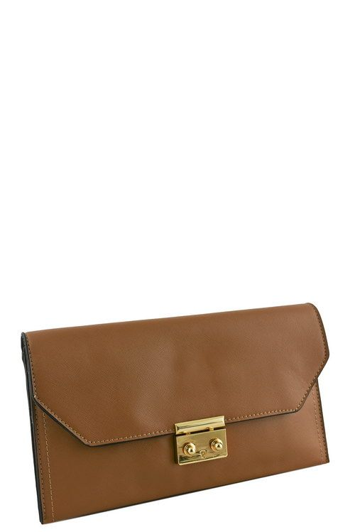 Designer push lock flap clutch-id.CC34342c