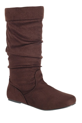 Ladies fashion ruched wedge boot is edgy, dress casual and chic, knee-high boot, closed almond toe, micro wedge heel-id.CC34370b