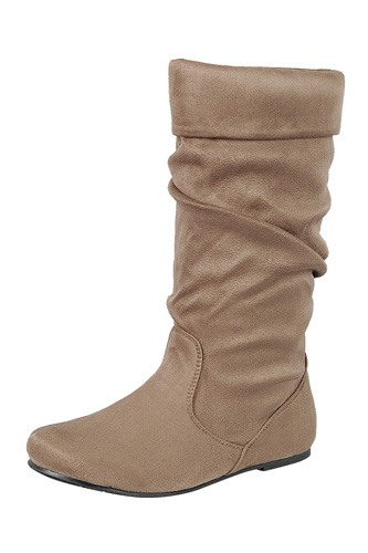 Ladies fashion ruched wedge boot is edgy, dress casual and chic, knee-high boot, closed almond toe, micro wedge heel-id.CC34370d