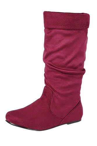 Ladies fashion ruched wedge boot is edgy, dress casual and chic, knee-high boot, closed almond toe, micro wedge heel-id.CC34370e