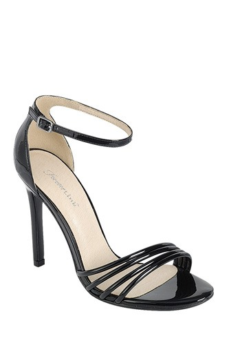 Ladies fashion high heel sandal, open round toe, single sole stiletto, buckle closure-id.CC34380