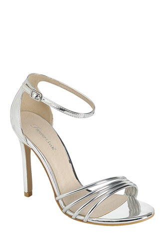 Ladies fashion high heel sandal, open round toe, single sole stiletto, buckle closure-id.CC34380c