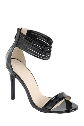 Ladies fashion simple, sophisticated and simply chic. high heel sandal, peep almond toe, stiletto heel, buckle closure-id.CC34382