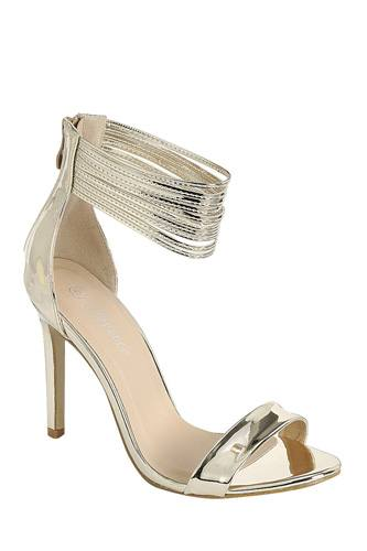 Ladies fashion simple, sophisticated and simply chic. high heel sandal, peep almond toe, stiletto heel, buckle closure-id.CC34382a