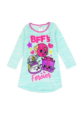 Girls shopkins 4-10 luxe plsuh nightgown-id.CC34399