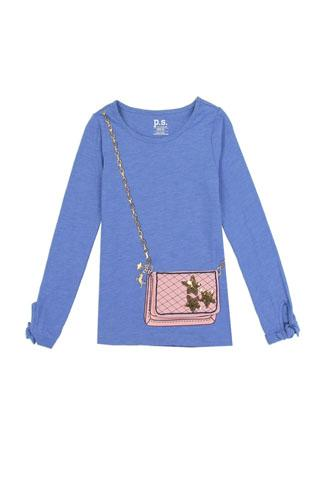 Girls AÉROPOSTALE 4-6x long sleeve fashion top with 3d flap purse pocket-id.CC34458