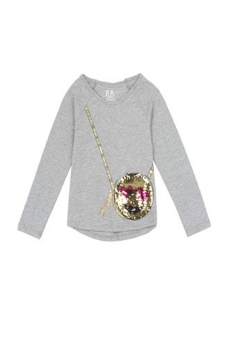 Girls AÉROPOSTALE 4-6x long sleeve fashion top with 3d flap purse pocket-id.CC34462