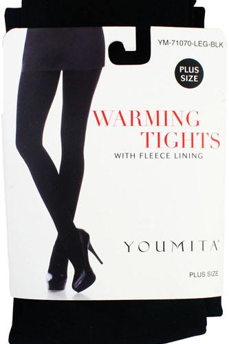 Ladies pus size warming tights with fleece lining-id.CC34498