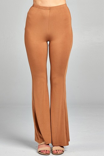 Ladies fashion bell bottom rayon spandex jersey long pants-id.CC34508b