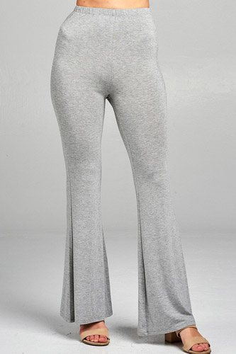 Ladies fashion bell bottom rayon spandex jersey long pants-id.CC34508c