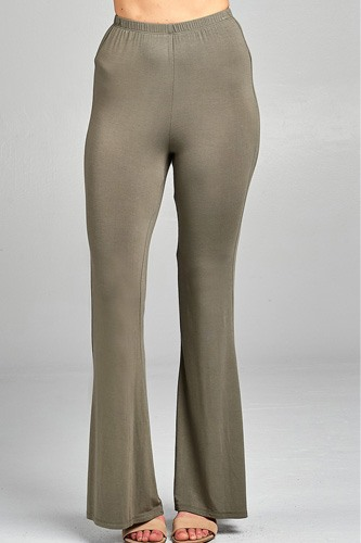 Ladies fashion bell bottom rayon spandex jersey long pants-id.CC34508d