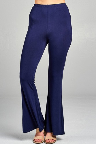 Ladies fashion bell bottom rayon spandex jersey long pants-id.CC34508e