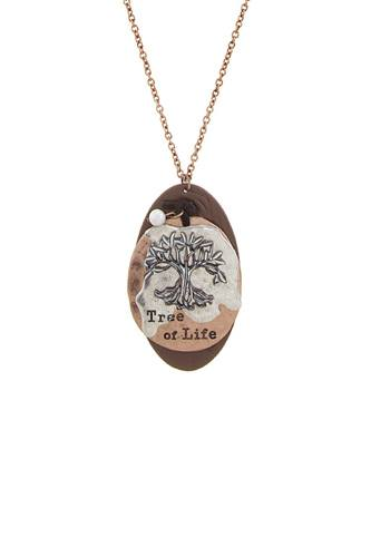 Tree of life disk pendant necklace-id.CC34531