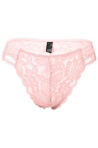 Ladies fashion caged floral lace thong-id.CC34554a