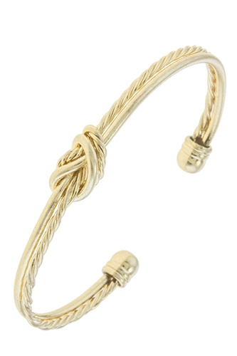 Knotted rope cuff bracelet-id.CC34681