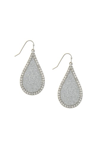 Rope outlined hexagon drop earrings-id.CC34776