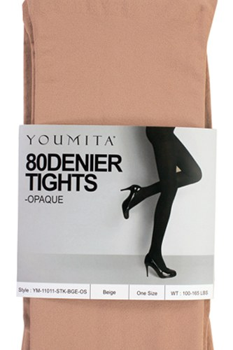 Ladies fashion non-run opaque tights with non-binding waistband-id.CC34804