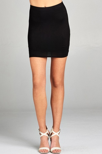 Ladies fashion waist elastic band mini skirt -id.CC34932