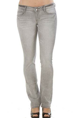 Ladies fashion  denim mid rise boot cut jeans-id.CC34941