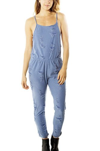 Ladies fashion distress overall jumpsuit romper-id.CC35044