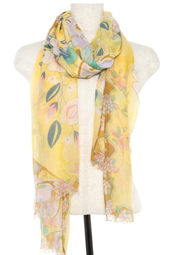 Floral pattern oblong scarf id.CC35090