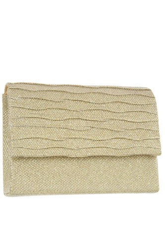 Shimmery square clutch evening bag -id.CC35131