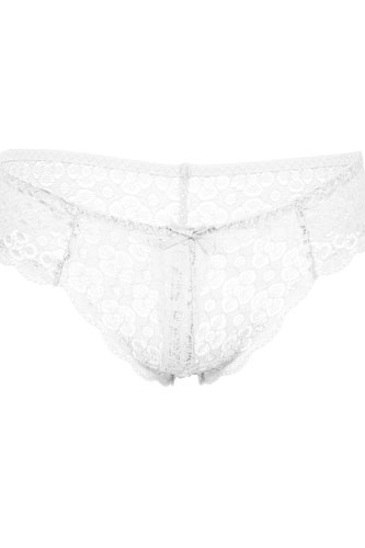 Floral lace opening lace thong panty -id.CC35173b