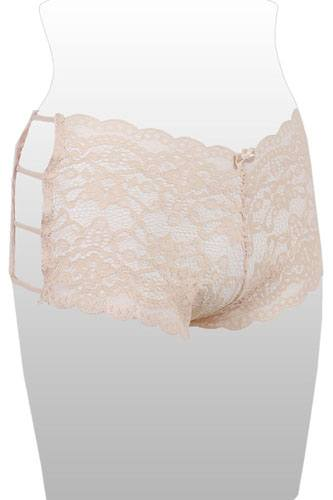 Ladies plus size caged lace hipster-id.CC35362