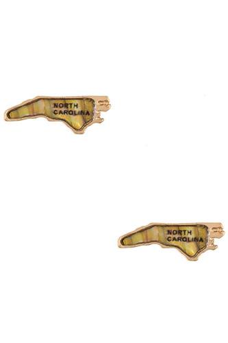 Ladies north carolina state post earring -id.CC35418