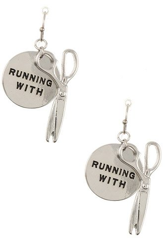 Ladies running with...disk dangle earring-id.CC35420