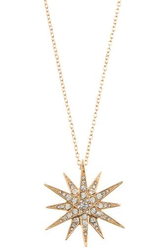 Ladies rhinestone pave star peandant long necklace -id.CC35448