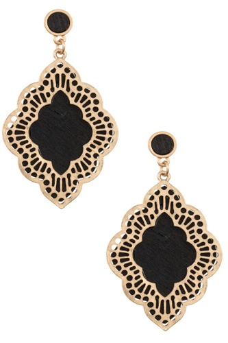 Ladies moroccan cut out orante dangle earring-id.CC35475
