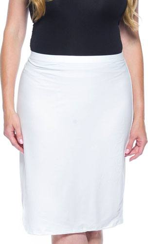 Ladies fashion plus size white pencil skirt-id.CC35513