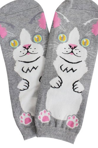 Ladies cat print socks-id.CC35633