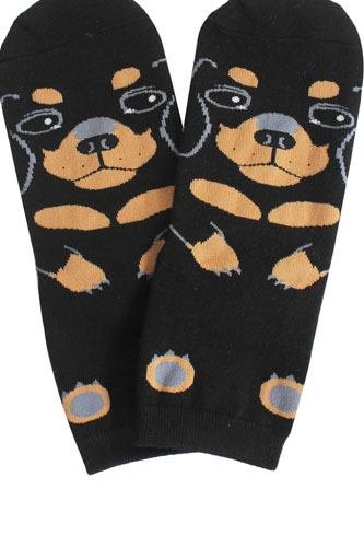 Ladies dog print socks-id.CC35634
