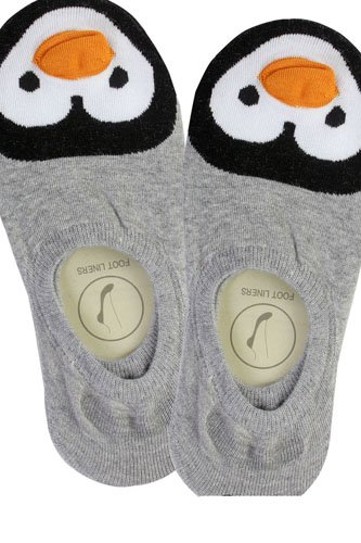 Ladies penguin print no show socks-id.CC35635