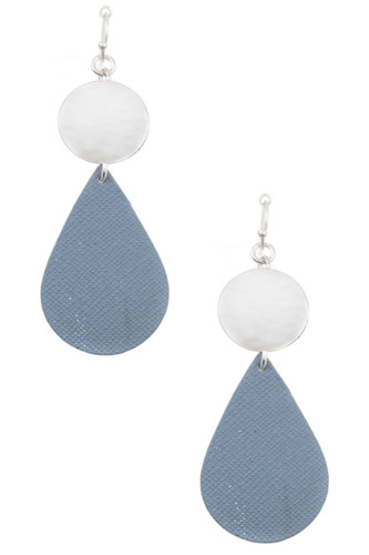 Ladies fashion disk link teardrop earring-id.CC35662