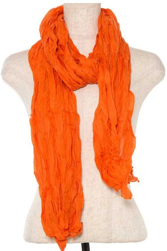Oblong wrinkled solid scarf -id.CC35786