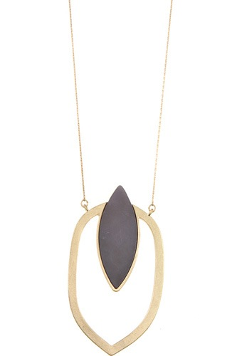 Marquise cut pendant long necklace-id.CC35804