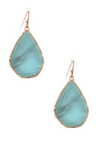 Drop frmaed stone earring-id.CC35819