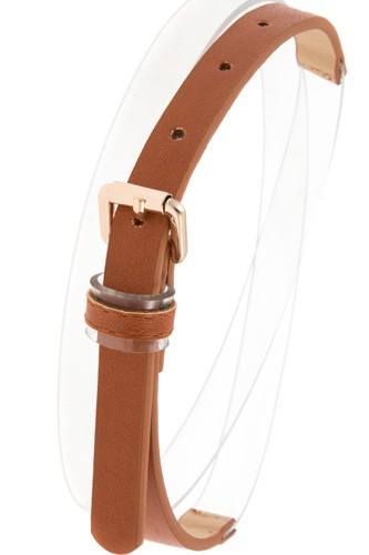 Half clear faux leather belt-id.CC35865