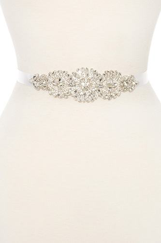 Faceted floral marquise sash belt-id.CC35866